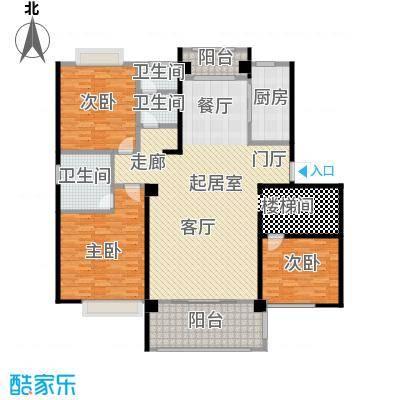鑫苑世家192.00㎡192平米 跃层(第一层――三室两厅两卫)户型3室2厅2卫