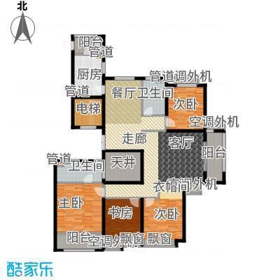 开元翡翠湾E户型4室2厅2卫