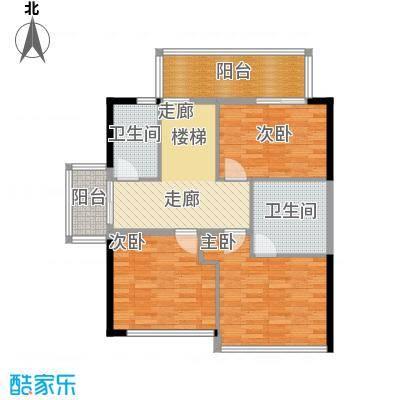 莱蒙水榭湾F型复式二楼户型