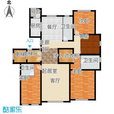 半湾半岛208.00㎡四室两厅三卫户型4室2厅3卫