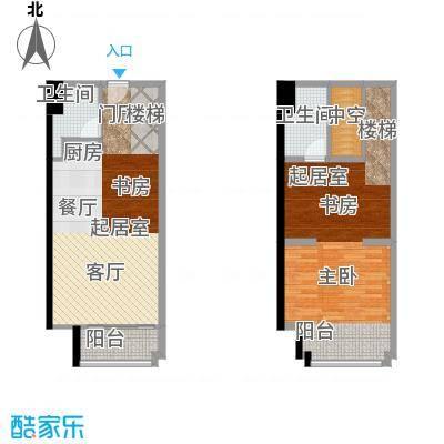 北辰红星国际广场62.00㎡L1户型