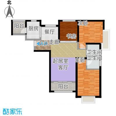 北辰红星国际广场115.77㎡B2户型3室2厅2卫