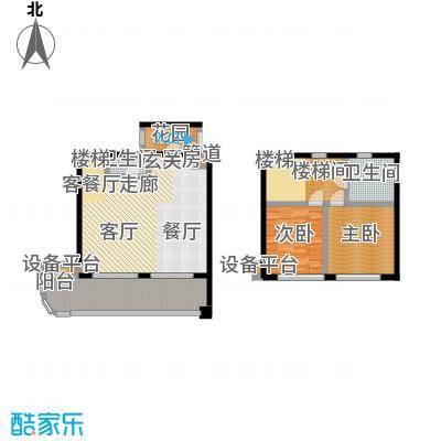 华润小径湾板式复式二房户型(29、31层)2室2厅2卫131.00㎡户型2室2厅2卫