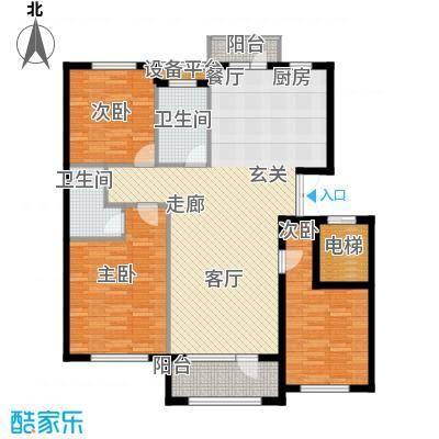 凯利花园135.00㎡凯利花园A户型3室2厅2卫1厨户型3室2厅2卫