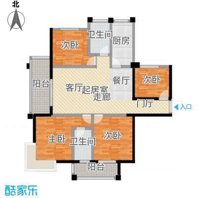 海港城115.00㎡4、5、6、7号楼户型4室2厅2卫