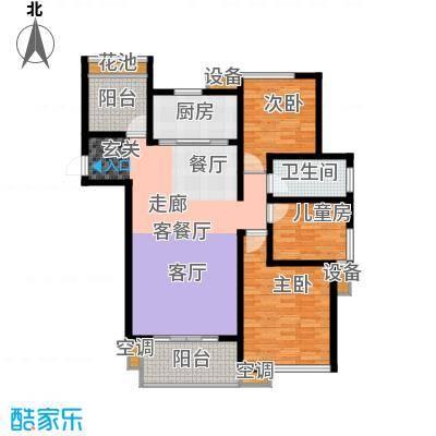 清流水韵123.10㎡A3户型 清流经典户型3室2厅1卫