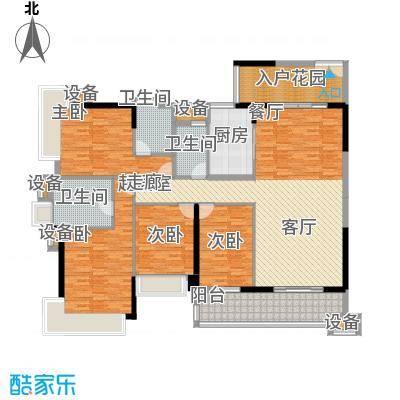 雅居乐凯茵又一城108.22㎡16/17栋03/04单位户型图户型3室2厅2卫