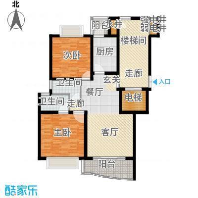 香榭水岸四期公寓户型2室1厅2卫1厨