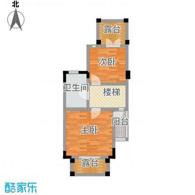 润城双璧湾90.00㎡3栋V4户型3层户型
