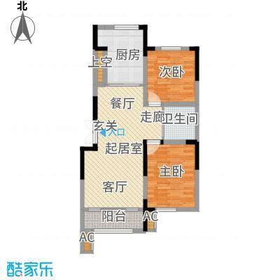 凯旋公馆106.00㎡2户型2室2厅1卫QQ