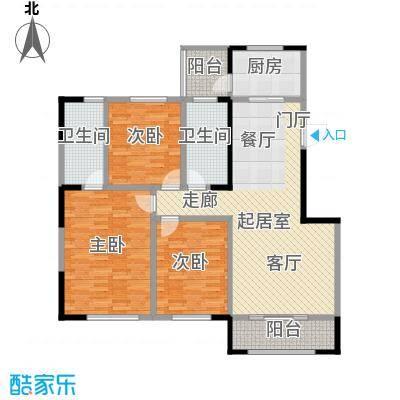 中海净月华庭128.00㎡中海净月华庭E户型3室2厅2卫
