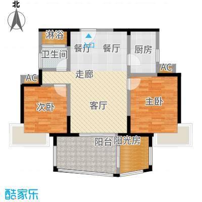 太东时尚岛89.37㎡J户型89.37平米户型3室2厅1卫S