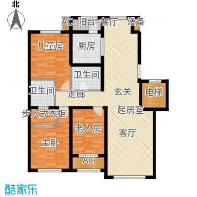 伟峰东樾142.00㎡高层G2户型3室2厅2卫QQ