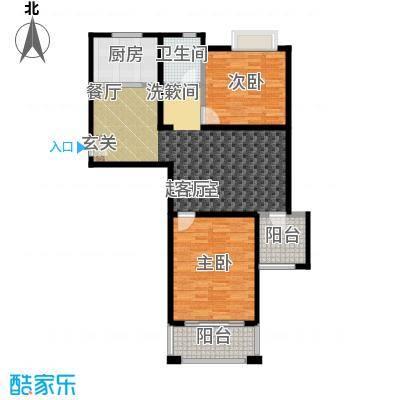 丽阳兰庭97.00㎡户型F3/F4 两室两厅一卫 建筑面积约:97.8㎡/96.7㎡户型2室2厅1卫