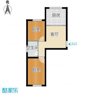 明佳时代庄园60.85㎡G6085―户型2室1厅1卫