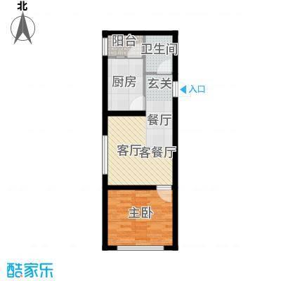 宏泽中央公园一室一厅一卫使用面积44.71X