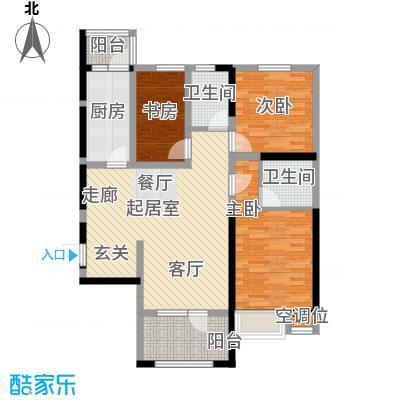 华荣泰时代COSMO122.29㎡3号楼03、06户型 建筑面积122.29㎡户型3室2厅2卫