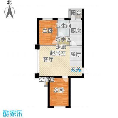 华荣泰时代COSMO88.31㎡3号楼08户型 建筑面积88.31㎡户型2室2厅1卫