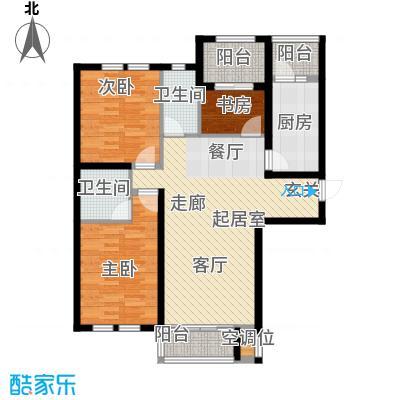 华荣泰时代COSMO115.92㎡1号楼03、04户型 建筑面积115.92㎡户型3室2厅2卫
