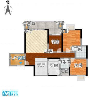 长欣中央广场户型3室2卫1厨