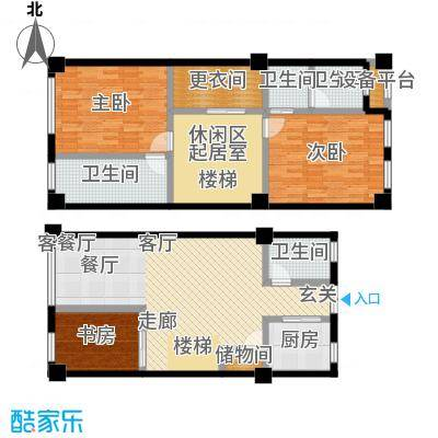 国华天玺78.75㎡C2户型3室3厅3卫