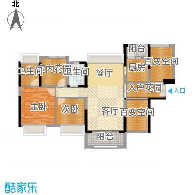 中信新城105.00㎡3栋户型2室2厅2卫