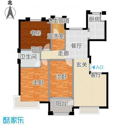 风尚米兰130.00㎡A6 三房两厅两卫 建筑面积130㎡户型3室2厅2卫