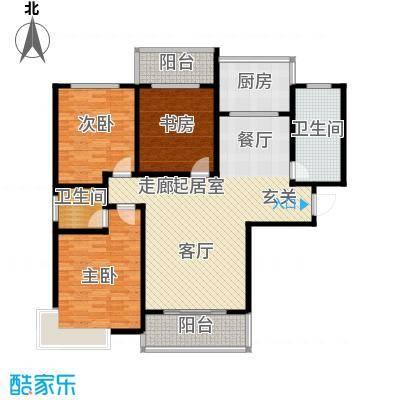地久艳阳天134.79㎡2#A 三室两厅两卫 134.79平米户型3室2厅2卫