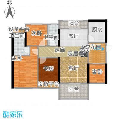 光耀荷兰小城93.00㎡F户型93㎡两房两厅两卫户型2室2厅2卫