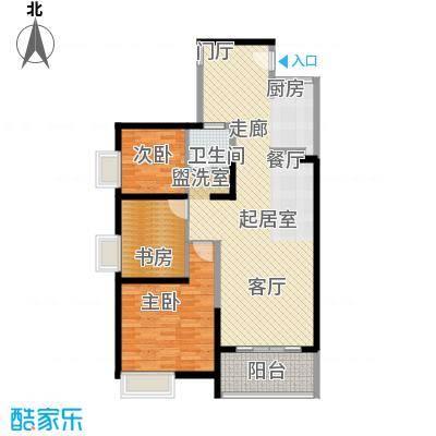 诚杰壹中心105.73㎡C2三房二厅一卫户型3室2厅1卫