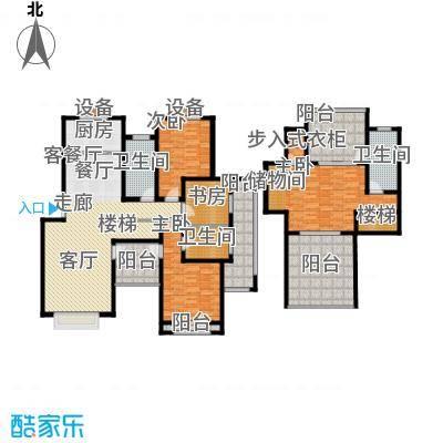 香溪左岸207.13㎡四室二厅三位面积约207.13户型4室2厅3卫