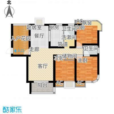 龙商荣域144.00㎡C户型3室2厅2卫1厨144.00㎡户型3室2厅2卫