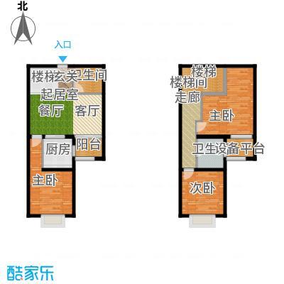北辰红星国际广场98.95㎡A户型