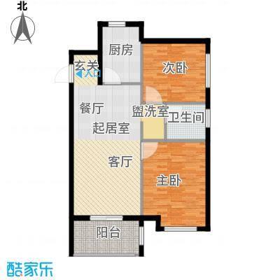华润橡树湾86-88平米两居室户型2室2厅1卫