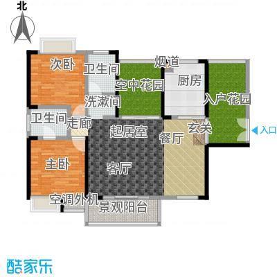 金汇上元112.00㎡B户型112.11-112.36平米2+2房2厅2卫户型4室2厅2卫