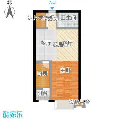 都市118E户型二室二厅户型