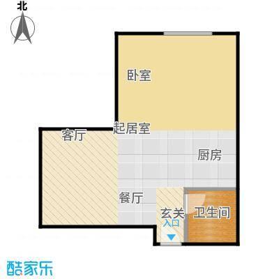 曼哈顿国际44.57㎡公寓G户型1室1卫