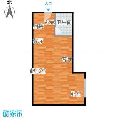 曼哈顿国际41.58㎡公寓D户型1室1卫