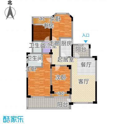 城置金色年华144.00㎡C户型四室两厅两卫 144㎡户型4室4厅4卫