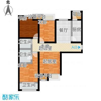尚郡翠林苑户型1号楼A1-190-285-2户型