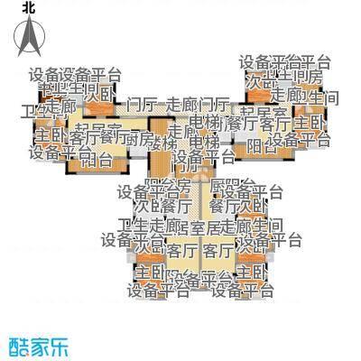 大润发广场4#楼住宅户型面积对照户型