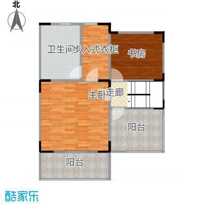 观林一品69.59㎡C第三层平面图户型2室1厅1卫