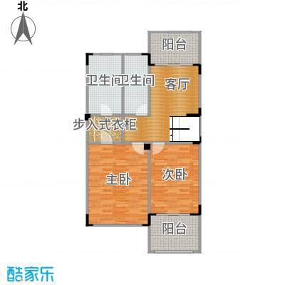 观林一品90.56㎡C第二层平面图户型2室1厅2卫