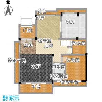 九江碧桂园户型1卫1厨