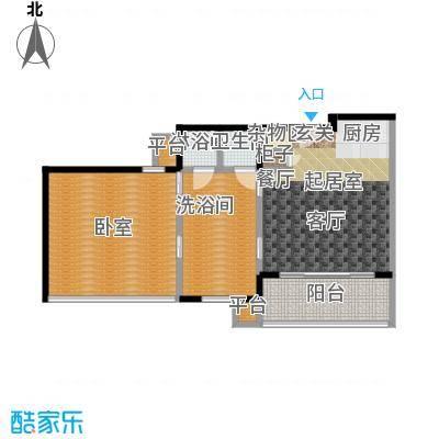 万科双月湾84.00㎡高层公寓户型1室1厅1卫户型1室1卫