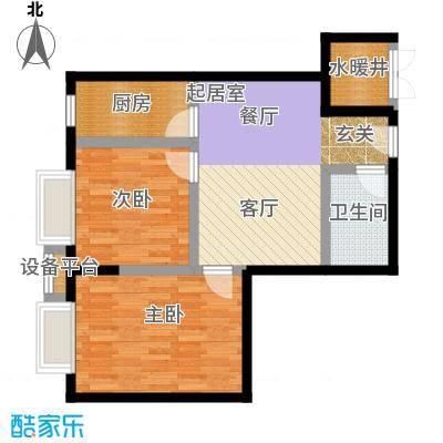 都市118C户型二室二厅户型