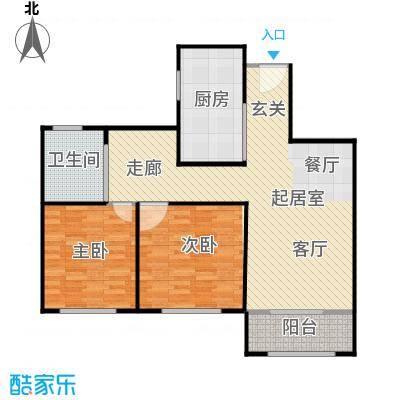 湖畔林语94.00㎡2室2厅1卫94平米户型2室2厅1卫