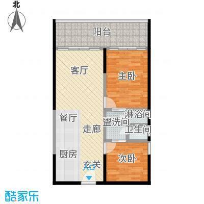 檀悦豪生度假酒店公寓4号楼2居室(83平米)户型LL