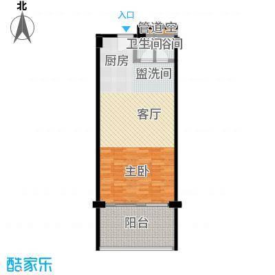 檀悦豪生度假酒店公寓69平米公寓户型1室1厅1卫LL
