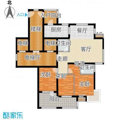 永康城市花园159.00㎡三室两厅两卫159平户型3室2厅2卫